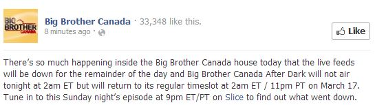 Big Brother Canada March 15 2013 415pm