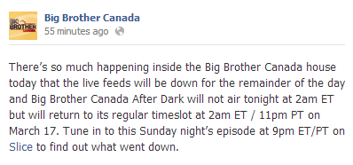 Big Brother canada announcement