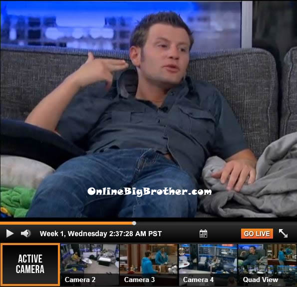 Judd says he forgot to request holy water from the diary room for
