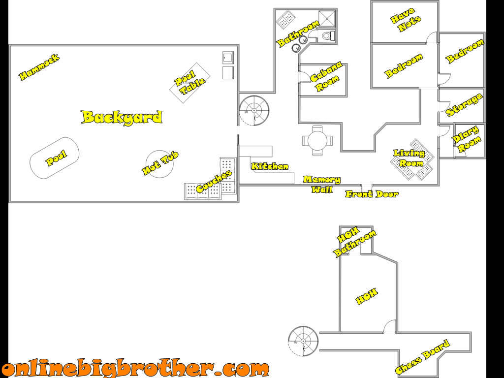 Big Brother House Floor Plans together with Floor Plan Of Big Brother House likewise Where Is The Big Brother House Big Brother Casting Call Spot Big Brother House Tour Australia together with Page 3 together with Big Brother House Plans. on big brother floor plan 17