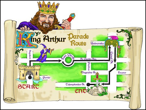 big brother king arthur parade map