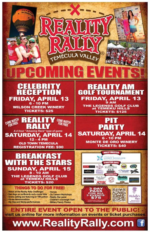 reality rally 2012 featuring your favourite big brother stars