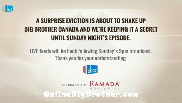 big brother canada live feeds surprise eviction