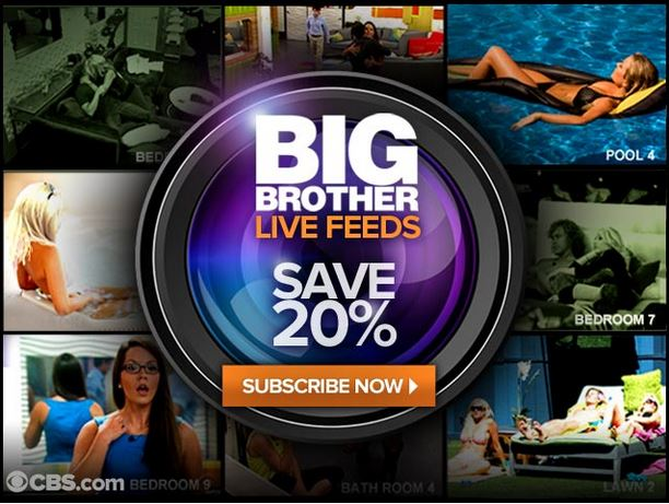 Big Brother live feeds ad