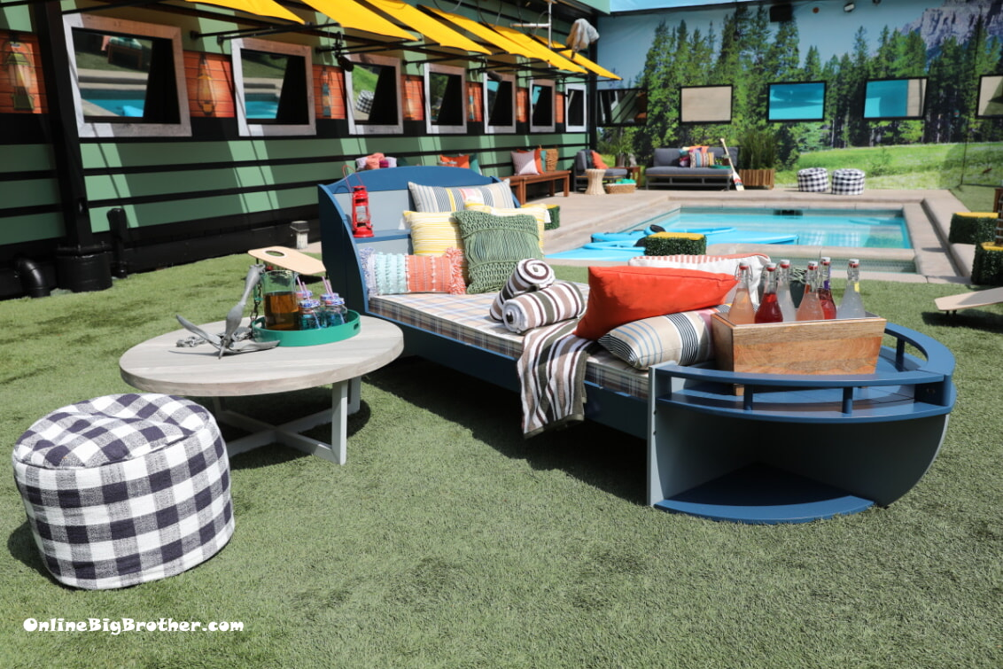Big Brother 21 Backyard boar couch